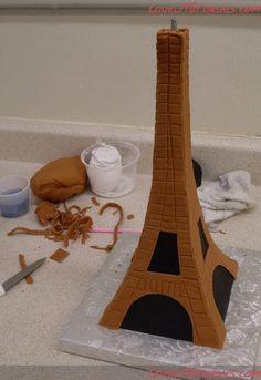 3-Д Эйфелева башня-3-D Eiffel Tower Cake - Мастер-классы по украшению тортов Cake Decorating Tutorials (How To's) Tortas Paso a Paso
