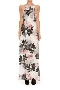 RESTLESS HEART MAXI DRESS ivory layered floral