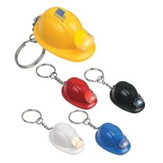 Promotional Hard Hat LED Key Chain | Customized LED Key Chains | Promotional LED Key Chains