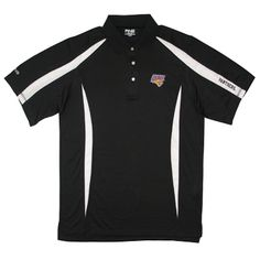 Ping men's black polo with white stripes on shoulders and sides. $59.99