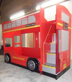 Double Decker London Bus Bunk Beds This Is Brilliant