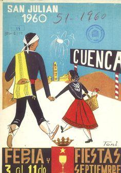 San Julián 1960 Programa oficial de la Feria y Fiestas de San Julián 1960 del 3 al 11 de septiembre El día 6 se celebra la prueba de fondo de Natación, entre el Puente de San Antón y el Puente de los Descalzos