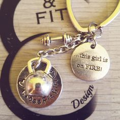 Keychain Nasty CrossFit Girl, Crossfit,Workout wod,Kettlebell,Crossfit keychain,Gym jewelry,weightlifting  jewelry,CrossFit jewelry,gift de CrosseFitDesign en Etsy