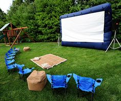 Backyard Movie:  Cute ideas for a camp-out party.