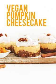 Vegan Pumpkin Cheesecake. Made 10/2015. Very good!