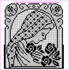 Learn to knit and Crochet with Jeanette: Crochet Picture - Stola Stricken Cross Stitch Designs, Cross Stitch Patterns, Crochet Patterns, Crochet Tablecloth, Crochet Doilies, Thread Crochet, Knit Crochet, Crochet Cross, Crochet Stitches