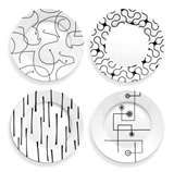 Abstract design plates