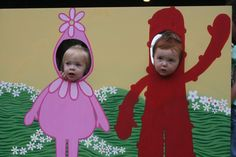 posey's 2nd birthday party. her mom painted this yo gabba gabba board for the kids (and adults!) pictures