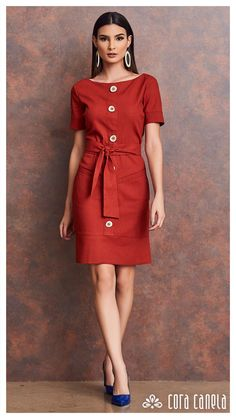 Shop Sexy Trending Dresses – Chic Me offers the best women's fashion Dresses deals Casual Wear, Casual Dresses, Casual Outfits, Fashion Dresses, Dresses For Work, Linen Dresses, Cotton Dresses, Dress Making Patterns, Mature Fashion