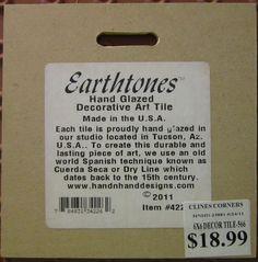 6 x 6 Trivet Earthtones Hand Glazed Art Tile Hummingbird Honeysuckle WELCOME | eBay
