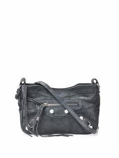 BALENCIAGA CLASSIC HIP MESSENGER BAG - Suede (Muted Grey) : $815.00