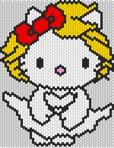 Marilyn Monroe Hello Kitty bead pattern
