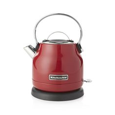 Scaled for smaller spaces and updated with electric functionality, this red countertop kettle features classic styling with the durability, reliability and design integrity that KitchenAid is known for. The kettle has a 1.7-qt. capacity and boils water rapidly for beverages, hot cereal and recipes.