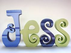 Cute letters for kids room