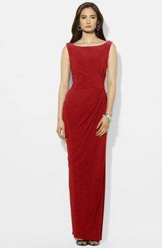 Lauren Ralph Lauren Embellished Jersey Gown available at #Nordstrom I want this dress in a different color