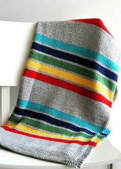 Knitted Stripped Baby Blanket | Etsy, $285