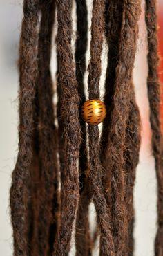 - korálek do dredů / Zboží prodejce Bíds. My Design, Dreadlocks, Bronze, Beads, Hair Styles, Beading, Hair Plait Styles, Hair Makeup, Bead