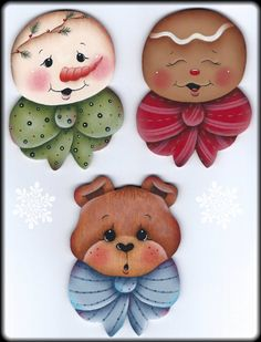 Sweet Faces Ornament Trio Painting E-Pattern