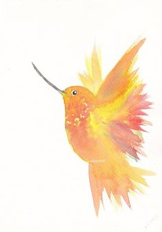 Hummingbird  Bird Art Painting