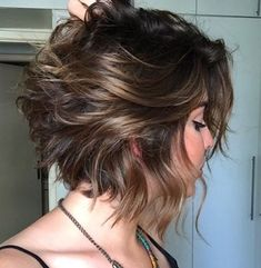 Latest Best Short Hairstyles, Haircuts & Short Hair Color Ideas Trendy Messy Bob Hairstyles and Haircuts, 2019 Female Short Hair Ideas Textured Bob Hairstyles, Stylish Short Haircuts, Haircuts For Wavy Hair, Messy Bob Hairstyles, Best Short Haircuts, Hairstyles Haircuts, Short Hair Cuts, Short Hair Styles, 2018 Haircuts