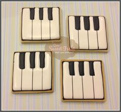 Musical Cookies - Piano by OneSweetTreat.com