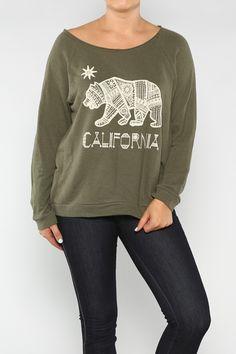 California Bear Sweater-Plus #America #LaborDay #Summer #Fashion #Shop #Holiday #Summer #EndlessSummer #ootd #wiwt