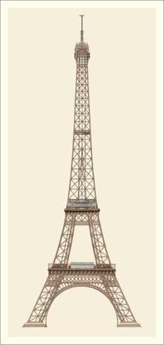 Art Print: Paris, Tour Eiffel Art Print by Alexandre-Gustave Eiffel : 40x18in