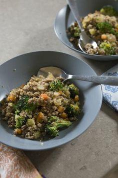 power lunch! (turkey + quinoa)