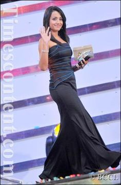 Bollywood and Tollywood actress Trisha Krishnan at the 'Idea Filmfare Awards 2010' (South) at the Nehru Indoor Stadium in Chennai on August 08, 2010.