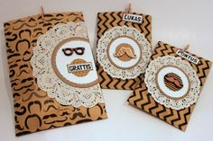 Ulrika Wandler created these fun gift bags using the Kraft collection and some wooden embellishments. How cute are they!! #BoBunny, @Ulrika Wandler