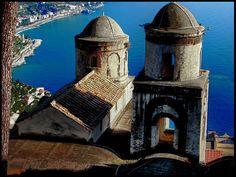 Ravello (Italy). Church of Annunziata, on the background Minori - Amalfi Coast.