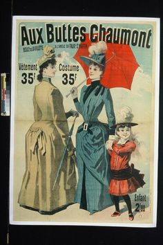 Jean Jules Cheret sponsored by Buttes Chaumont (Aux) Display 1889 France