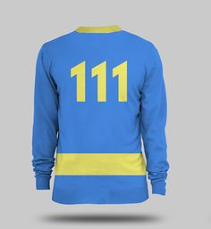 You can be the Sole Survivor with style with this Official Fallout 4 Vault 111 Jumper! This knitted jumper design is based on the Vault 111 jumpsuit from Fallout 4, and features the numbers of the vault you'll be emerging from after the bombs drop on the back.