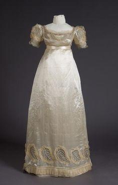 1000 images about vintage 1820 39 s on pinterest rubies Wedding dress with leaf design