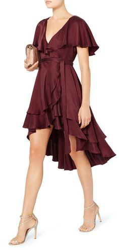 Shop for Zimmermann Flounce Wrap Dress by Intermix on Shopstyle.com