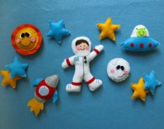 """""""Adventure in space"""" made with wool felt"""
