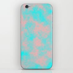 Cotton Candy Clouds - Pink & Blue iPhone & iPod Skin #phoneskin #cottoncandy #clouds #pink #blue #society6
