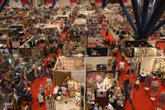International Quilt Festival, Houston   this picture from second floor, represents a very TINY portion of the actual festival   you really need at least 2 days to see it all