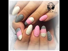 cable knit nail art by gemma lambert - YouTube