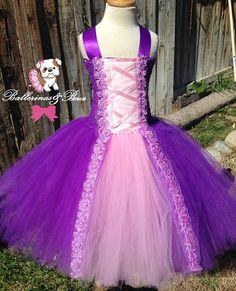 Rapunzel/ Tangled tutu dress costume . by BallerinasNBows on Etsy