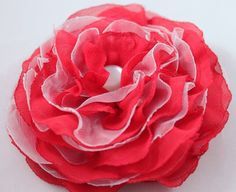 Shop for brooch on Etsy, the place to express your creativity through the buying and selling of handmade and vintage goods. Flower Brooch, Tango, Veil, Brooches, Red And White, Unique Jewelry, Handmade Gifts, Rose, Flowers