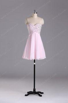 A-line Sweetheart Sleeveless Knee-length Elegant Chiffon Beading Prom Dress 2013 $129.00