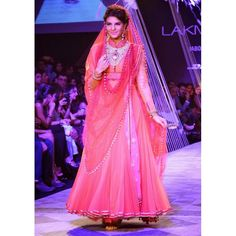 Bollywood Replica - Designer Jacqueline Fernandez Net Lehenga Choli - 1007 (SIA-FC)