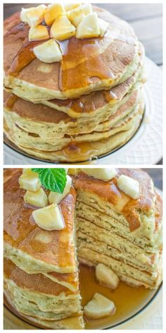 These kid friendly Healthy Banana Pancakes are easy to make and so fluffy and tasty. And there's no added sugar! These are a must try for any pancake lover. Tasty Pancakes, Banana Pancakes, Pancake Muffins, Slow Cooker Recipes, Cooking Recipes, Spiralizer Recipes, Slow Cooker Chicken, Food To Make, Breakfast Recipes