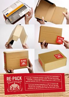 Brilliant!! Project for the reuse of existing packages. Everything that has contained something, can contain something else and be useful again. By H-57 Italy