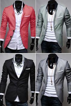 Gents Fashion, Best Mens Fashion, Mens Fashion Suits, Look Fashion, Korean Fashion, Blazer Outfits Men, Blazer Fashion, Fashion Outfits, Cool Outfits