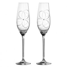 Get 30% OFF - Your Price £28.00  Set of 2. Decorated with contemporary cuts and hand-applied Swarovski crystals, these Toasting Flutes were perfectly designed to toast anybody's birthday or anniversary.