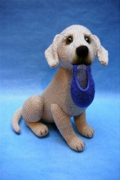 Alan Dart Knitting Pattern: Labrador Retriever dog