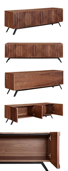 Add intrigue to your modern or transitional living space with this stunning, mid-century–inspired Holloway Sideboard. It's gorgeously finished walnut wood top is beautifully textured and boasts a subtl...  Find the Holloway Sideboard, as seen in the Mid-Century Modern Ski Trip Collection at http://dotandbo.com/collections/mid-century-modern-ski-trip?utm_source=pinterest&utm_medium=organic&db_sku=115622