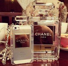 2c14c1351b6bc9 Bag  chanel phone case see through jewels white